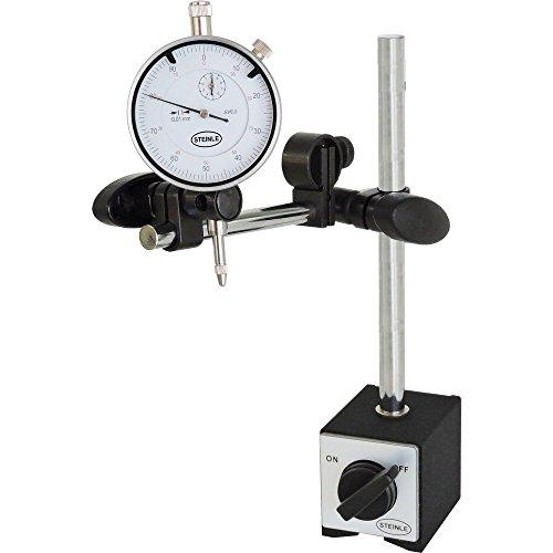 STEINLE Magnetstativ Messstativ Standard inkl. STEINLE Messuhr im SET Messbereich 10/0,01 mm (1 Messuhr)