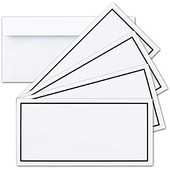 50 Trauer Briefumschläge ,Weiß mit Schwarzen Rand 12 x 17