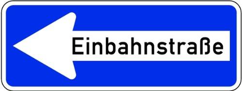 LEMAX® Schild Alu Einbahnstraße linksweisend Verkehrszeichen 220/10 300x800mm reflek...