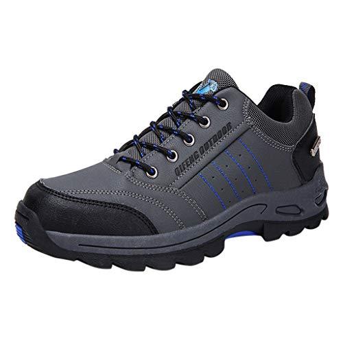 Herren Trekking-& Wanderhalbschuhe rutschfeste Atmungsaktiv Outdoor-Schuhe Bequem Verschleißfest Wanderschuhe Reiseschuhe Laufschuhe Wasserdicht Freizeitschuhe Fitnessschuhe 36(Grau)