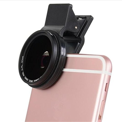 ZOMEI Universal 37mm Thread Clip Mobile Phone lens Circular Polarizing CPL Filter for iPhone iPad Samsung and Most Smartphones