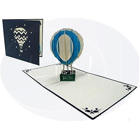 LIN - Pop Up 3D Tarjeta de felicitación, Globo aerostático