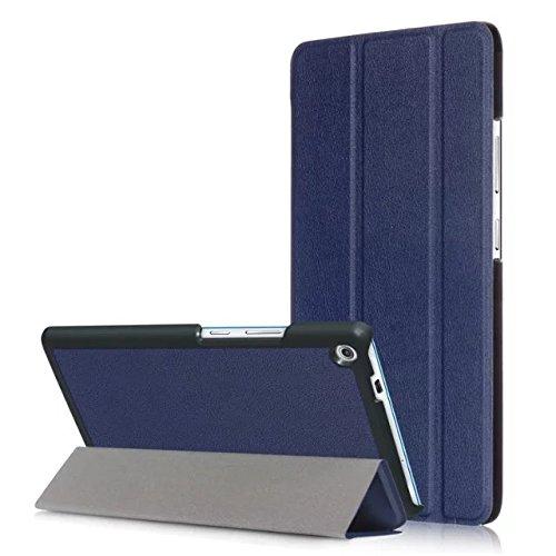 Kepuch Custer Lenovo Tab3 7 Plus / TB-7703F / TB-7703X Hülle - Shell Schutzhülle PU Tasche Smart Case Cover für Lenovo Tab3 7 Plus / TB-7703F / TB-7703X - Blau