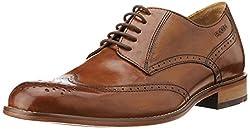 Ruosh Mens Tan Leather Formal Shoes - 11 UK/India (45 EU)(12 US)