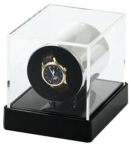 Temotus Uhrenbeweger für automatische Uhren, super leiser Motor, 12 Programme, Schlafmodus , XL Kissen passend zu jeder Uhr - 6