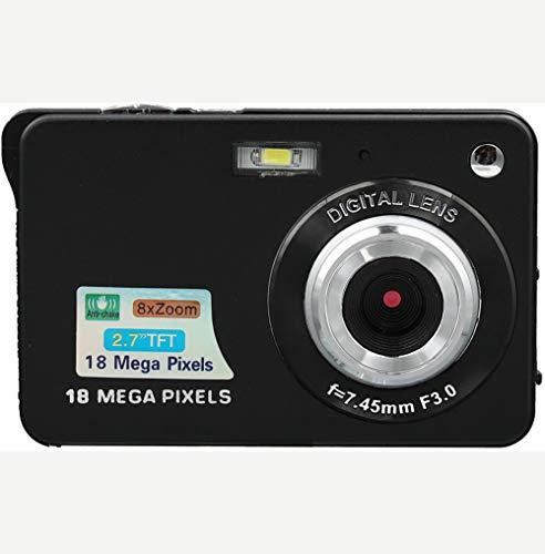 FULANTE Caméra vidéo numérique, 18 Millions de Pixels HD Appareil Photo numérique Ordinaire, Machine à Carte retardateur Accueil de Mini caméra