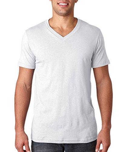 4.2 oz. V-Neck Jersey T-Shirt (3005) -White -2XL ()