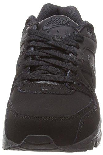 Nike Air Max Command Leather, Chaussures de Running Entrainement Garçon Multicolore - Negro / Gris (Black / Black-Anthracite)