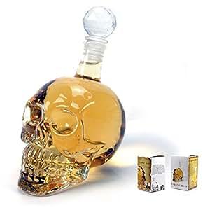 1000ml Carafe à Décanter Décanteur Bouteille de Vin Vodka Whisky Forme de Crâne