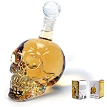 1000ml Decantador De Skull Head De Cristal Vítreo Para Vodka Whisky