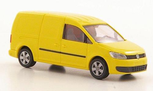 Preisvergleich Produktbild VW Caddy Maxi Kasten, gelb, 2011, Modellauto, Fertigmodell, Rietze 1:87