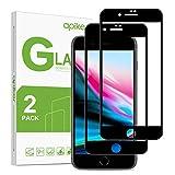 apiker [2-Unidades Cristal Templado Compatible con iPhone 7 Plus 8 Plus, Protector Pantalla para iPhone 7 Plus 8 Plus, Vidrio Templado con [9H Dureza] [2.5D Borde] [Alta Definición]
