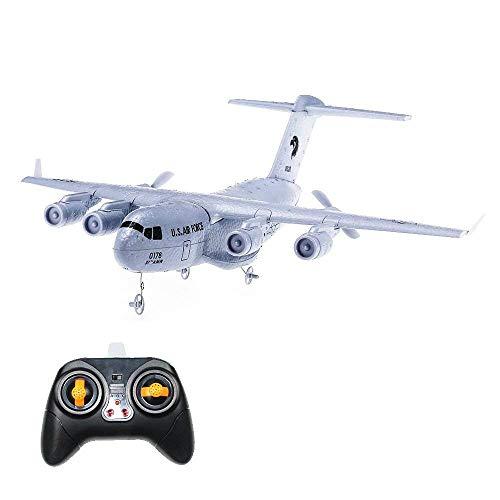 HankerMall Aereo RC C-17 Trasporto Aereo EPP Fai da Te 2 Canali 2.4 GHz Telecomando A 3 Assi Gyro Aereo Giocattolo RTF