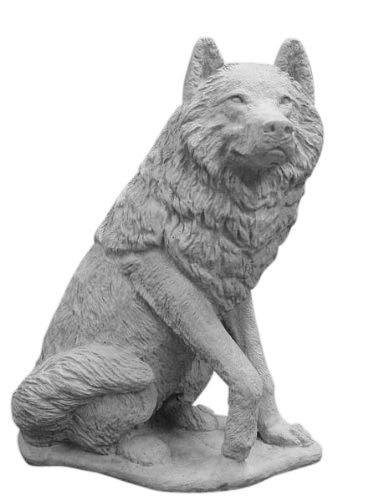 Wolf, Tierfigur aus Steinguss, Frostfest