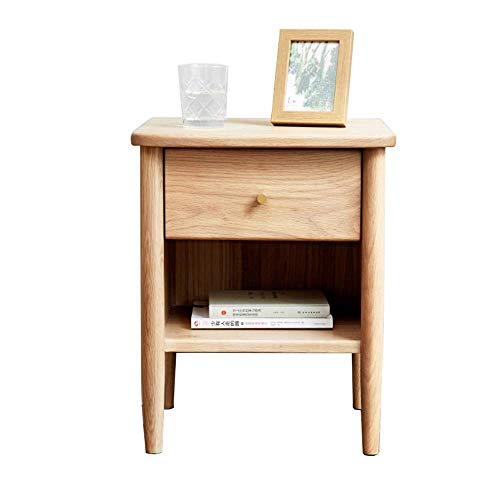 Carl Artbay Home&Selected Furniture/Nachttisch Massivholz Beistelltisch Multifunktionsschrank mit 1 Schublade Accent Tabelle 40;35;50CM