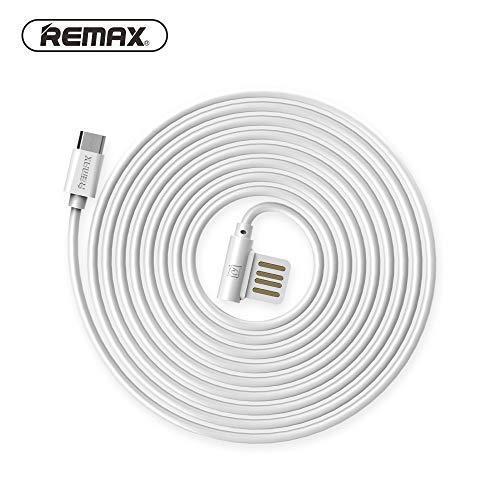 REMAX Rayen Micro-USB Ladekabel Datenkabel 1M Schnellkabel USB kompatibel mit Samsung, HTC, Huawei, LG, Motorola, Sony Weiß (Alcatel Lg Htc Handy)
