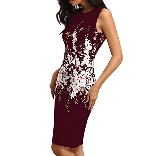 KKVK Sommer Frauen büro Dame Dress Vintage Blumendruck Dress Casual Frauen schlank Bodycon Dress sexy Party Kleider cl -