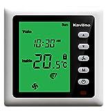 t202bv2g-r 4-pipe Fcu termostato ambiente programmabile con IR funzione (retroilluminazione verde)