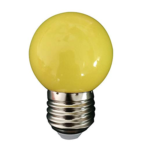 Dicomi 0.5W E27 LED Farbige Glühbirne Energiesparlampe Weihnachtsfeier Party Event Lichter Innen und außen 220V 2835 Lampenperlen Gelb -