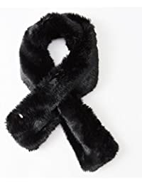 New luxury super soft short faux fur collar scarf black