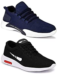 WORLD WEAR FOOTWEAR Men's Multicolor Sports Running Shoes (Set of 2)