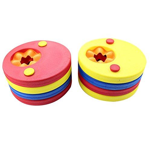 8pcs Manguitos de natación para niños de W-top, hechos de espuma, varios colores Discos Flotantes