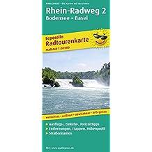Rhein-Radweg 2 Bodensee-Basel: Leporello Radtourenkarte mit Ausflugszielen, Einkehr- und Freizeittipps, reissfest, wetterfest, beschriftbar und wieder ... 1:50000 (Leporello Radtourenkarte / LEP-RK)