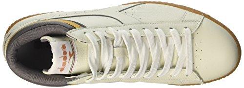 Diadora Herren Game L High Hohe Sneaker Elfenbein (White/plum Kitten/inca Gold)