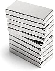 Neomag Mini Pack 20mm x 10mm X 2mm Rectangular Shaped (10 Pieces) Nickel Plated N35- Ni