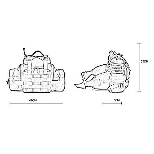 ZHANGRONG- Multifunktionale Außentaschen Camouflage Sporttasche Freizeit auf einer Bergsteigen-Tasche Ausstattungspaket (Mehrfache Farben vorhanden) 1