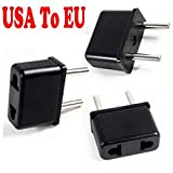 Chargers Power Adapters Best Deals - PsmGoods 3 Pack USA Uniti all'Europa UE EURO Travel Charger Power Adapter Converter Plug
