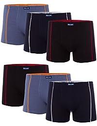 MioRalini 6 PREISWERTE weiche Baumwoll Elastan Boxershort - bedruckt und einfarbig viele Farben - Grössen von S bis 4XL - Retropants RetroshortS