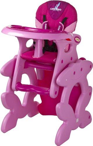 Caretero Primus, 2in1 Hochstuhl für Kinder, rosa
