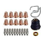 23pcs Plasma Elektroden PR0110 Düse 0.8 PD0116-08 Schild Tasse PC0116 Diffusor PE0106 Spacer Guide CV0010 Verbrauchsmaterial Für S45 Fackel
