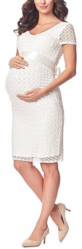 festlich weißes Schwangerschaftskleid