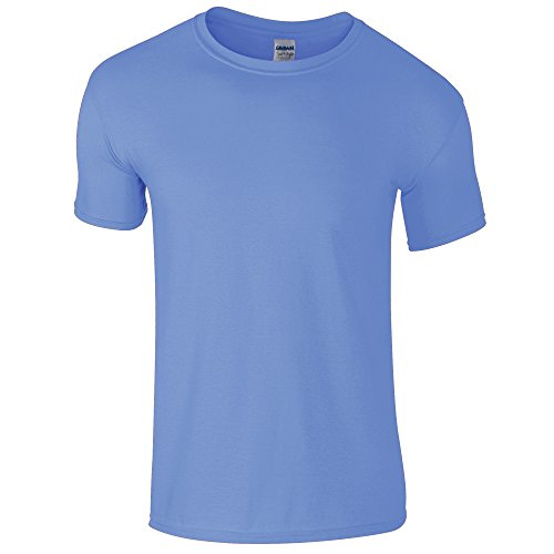 Gildan Soft-Style Herren T-Shirt, Kurzarm, Rundhalsausschnitt (M) (Carolina Blau ) (Carolina Blau T Shirt)