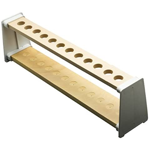 WOODEN TEST TUBE STAND RACK 12 HOLE ALL 22MM