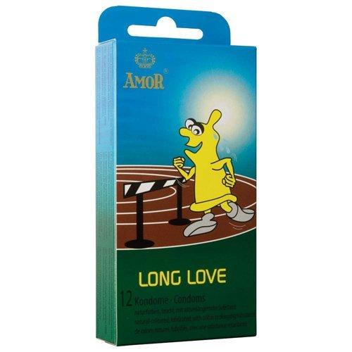 AMOR® Long Love 12er Pack Kondome für pures, lang anhaltendes Gefühl, gefühlsecht und für ein extra langanhaltendes Erlebnis, in Deutschland getestet