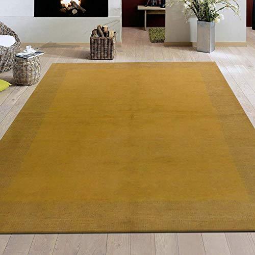 Teppichwelt - Holzbachtal 24255 Gabbeh Sand Trendy Carpets for Living Room,Bed Room Dining Room Q5/28 Quality 162 x 247 cm -