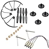 Upgraded Spare Parts Set for XS809 XS809HC XS809W XS809HW Drone,Drone Replacement 4*Motors/4*Propellers Guards/4*Main Blade Propellers/4*Shafts/8*Bearings/4*Gears as RC Quad Copter Spare Parts Set