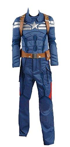 Captain America 2: Winter Soldier Steve Rogers hellblau Version Cosplay Kostüm, Collegejacke, Blau