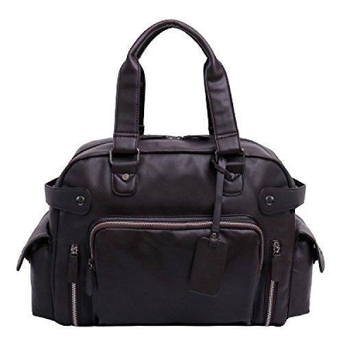 Yy.f Mode Große Kapazität Reisetasche Business Aktentasche Klassische Praktische Computer Tasche Pu-leder Männer Tasche (schwarz Und Braun) Brown