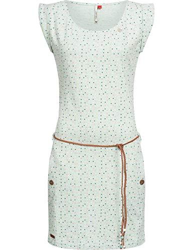 Ragwear Damen Baumwoll Jersey-Kleid Tag Dots Grün Gr. L -