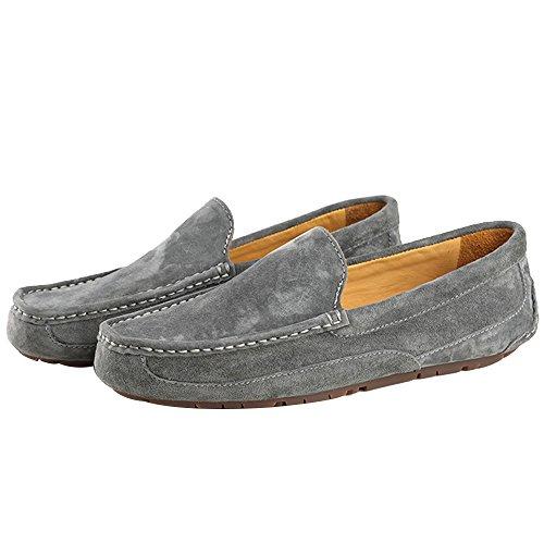OZZEG  Fashion,  Herren Durchgängies Plateau Sandalen mit Keilabsatz Grau