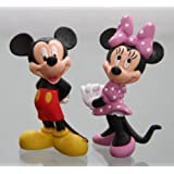 Bullyland - MICKY & MINNIE MAUS- Figur : MICKY MAUS (MICKEY MOUSE) / ca. 6 cm + MINNIE MAUS / 6,5 cm - Walt Disney