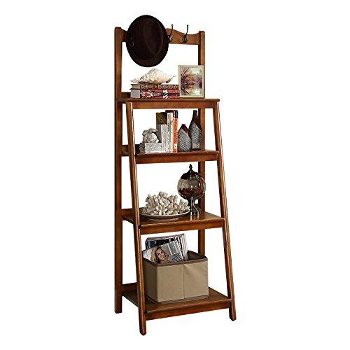 Joo American Racks Wohnzimmer Massivholzboden Bücherregal Schlafzimmer Ecke Regal Mehrschichtige Lagerung aus Holz Regal (Farbe : Natürlich) (American Bücherregal)