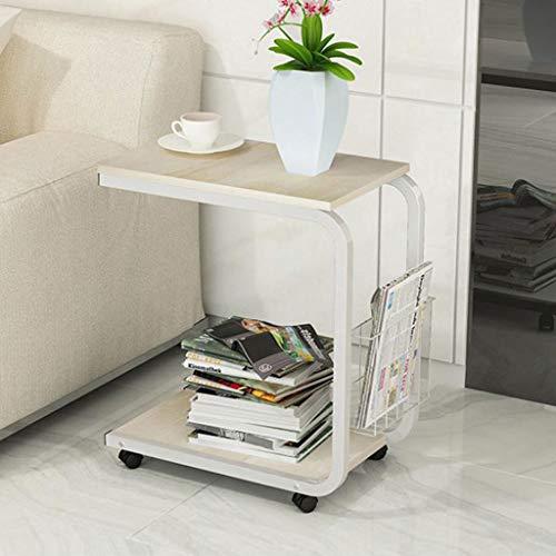 T-Day Beistelltische Nachttisch Tische Couchtisch Möbel-Multifunktionsecke aus massivem Holz, Nachttisch, quadratisch 51x30x56 (Höhe) cm Beweglicher Kleiner Couchtisch (Color : B) - Marmor Aus Massivem Messing