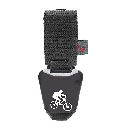 ebos Alpenhupe, Cencerro como Timbre de Bicicleta, Compatible con Todas Las Bicicletas | Abrazadera de Bicicleta Resistente a la Intemperie | Timbre con un Alto Sonido para Cada Manillar (Gris)