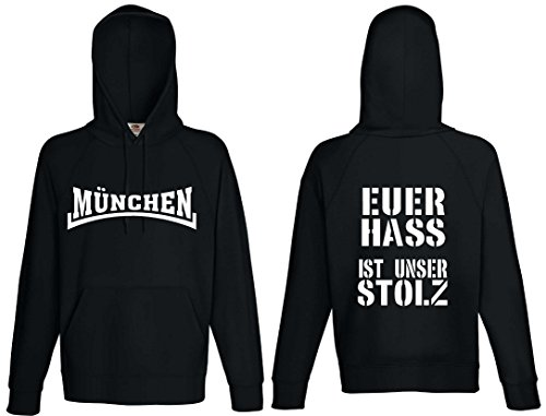M/ünchen Herren Kapuzensweat S/üdkurve Ultras world-of-shirt