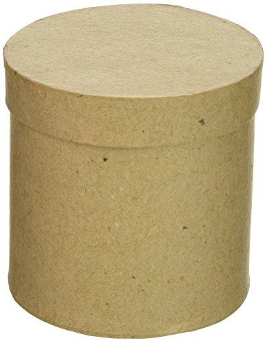 Darice Papier Pappmaché box-round mit lid-3X 3in
